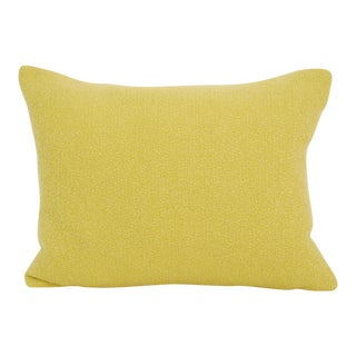 Japanese Indigo & Chartreuse Pillow For Sale