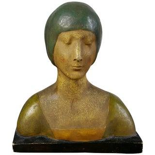 Wiener Werkstatte Female Bust For Sale