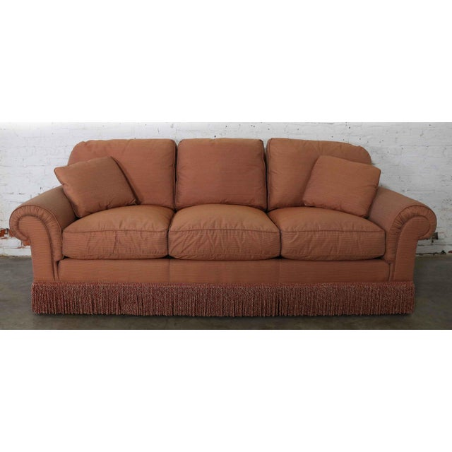 Baker Sofa Lawson Style From the Crown and Tulip Collection Terracotta For Sale - Image 13 of 13