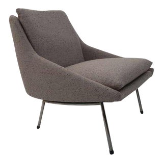Rare and Elegant 1956 '800' Lounge Chair By J.A. Motte for Steiner, France