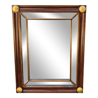 Empire Mahogany & Gilt-Wood Mirror by Baker Furniture Company For Sale