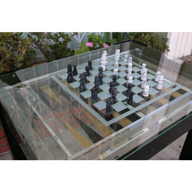 Abstract Expressionism Vintage Lucite Backgammon and Chest Game Table For Sale - Image 3 of 13