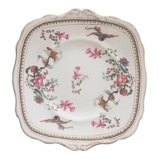 1930 Vintage English Paragon Porcelain Platter For Sale