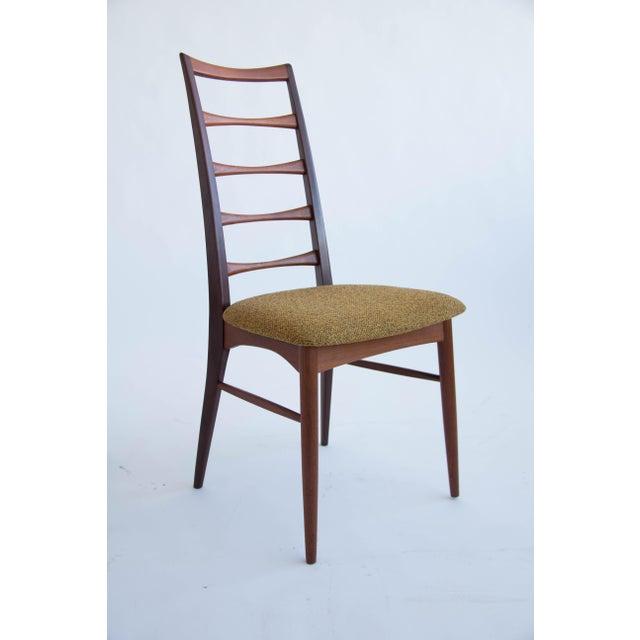 Danish Modern Set of Koefoeds Hornslet Teak Ladder Back Dining Chairs For Sale - Image 3 of 11