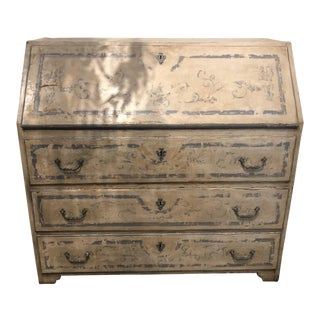 Antique Painted Secretary Desk For Sale