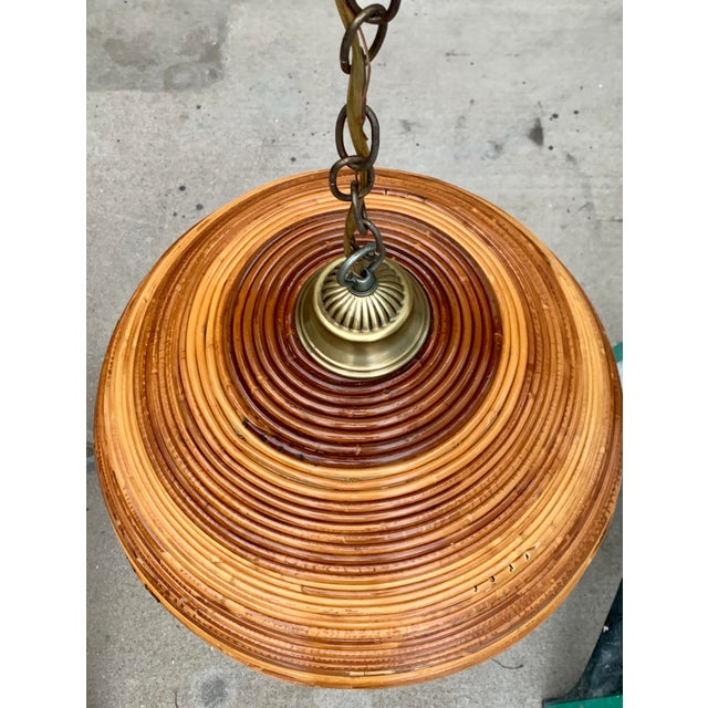 Metal Vintage Bamboo Indoor/Outdoor Ceiling Light For Sale - Image 7 of 12