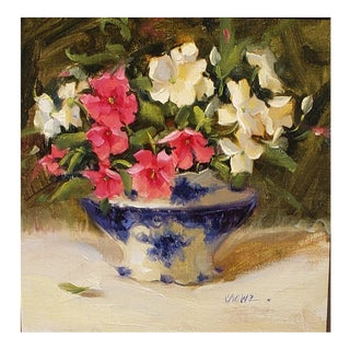 "Judy Crowe ""Impatiens"" Oil Painting For Sale"