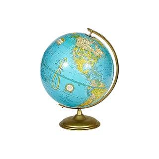 1960s Metal Base World Globe
