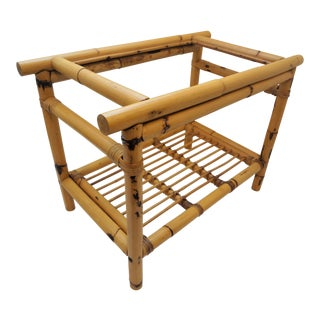 20th Century Boho Chic Bamboo Side Table For Sale