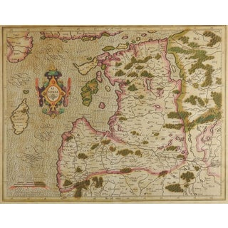Circa 1620 Map of Livonia Baltic States For Sale