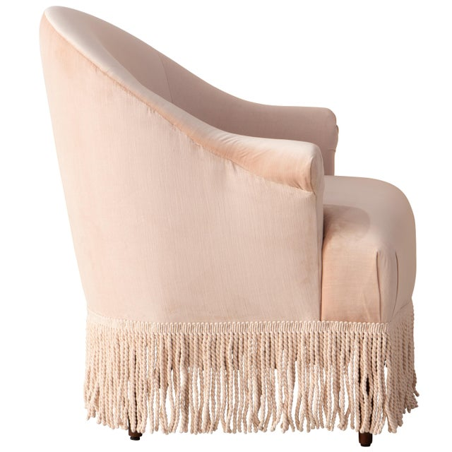 Art Deco Fringe Chair in Titan Pink Champagne For Sale - Image 3 of 8