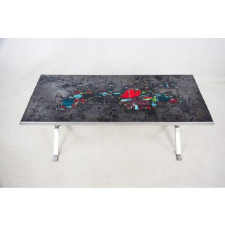 Belgian Abstract Art Tile and Chrome Coffee Table Preview