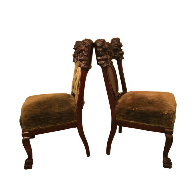 Antique Late 19th. C Karpen Settee & Side Chairs - the Maiden Suite Set of 3 For Sale - Image 6 of 9
