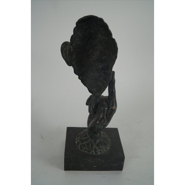 Maitland - Smith Maitland Smith Bronze Hands & Face Sculpture For Sale - Image 4 of 10