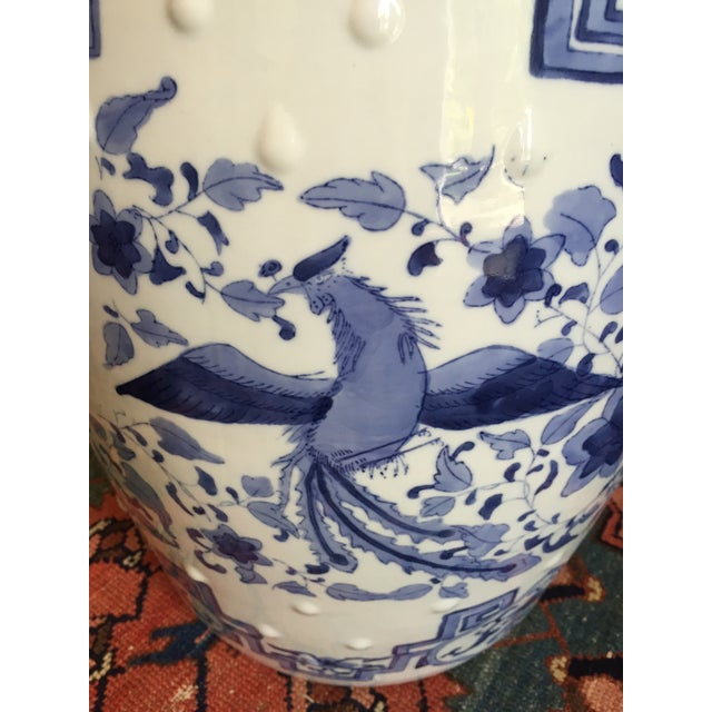 Chinoiserie Ceramic Garden Stool For Sale - Image 7 of 8
