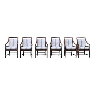 McGuire Furniture Target Back Dining Chairs - Set of 6 For Sale