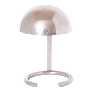 Jacques Adnet French Mid-Century Machine Age Art Deco Lamp For Sale