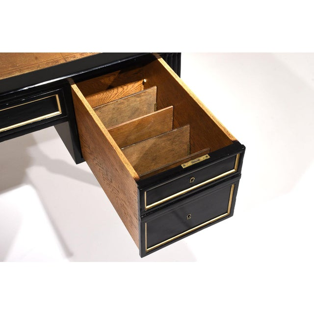 French Louis XVI-style Ebonized Desk - Image 8 of 10