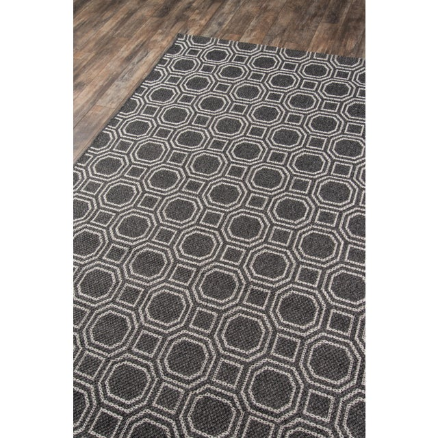 """Contemporary Erin Gates Downeast Camden Charcoal Machine Made Polypropylene Area Rug 5' X 7'6"""" For Sale - Image 3 of 8"""