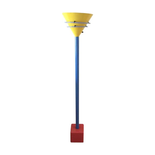 sale retailer 671f7 494e6 Vintage Memphis Style Halogen & Neon Floor Lamp