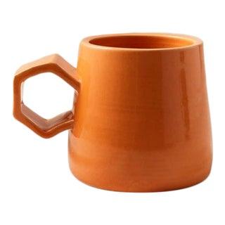 Contemporary Handmade Ceramic Maya Mug - Orange For Sale