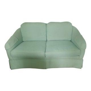 Hickory Chair Aqua/Turquoise Custom Love Seat For Sale