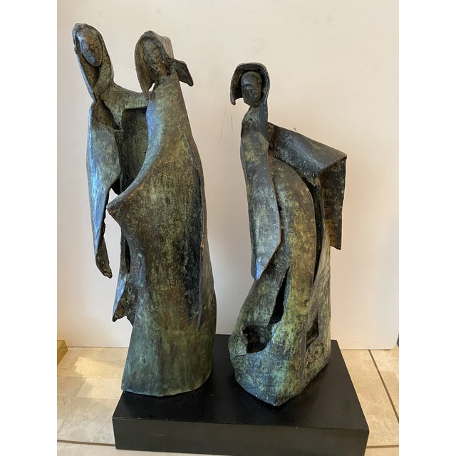 Brutalist Bronze Sculpture of Nuns For Sale In Miami - Image 6 of 11