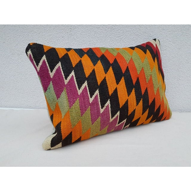 This handwoven kilim pillow is made from Anatolian and Middle-eastern kilim fragments. Each of our kilim pillow cover is...