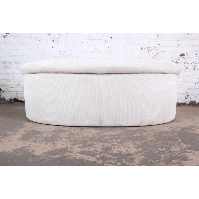 White Mid-Century Kidney-Shaped Sofa For Sale - Image 8 of 9