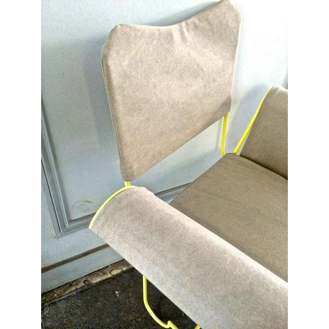 """1950s Mathieu Mategot Rare Set of 4 Arm Chairs Model """"Tropiques"""" For Sale - Image 5 of 7"""