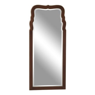 Friedman Brothers Walnut Queen Anne Style Mirror For Sale