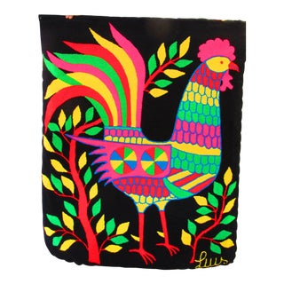 "Luis Colorful Proud Rooster Rug - 2'4"" X 3'11"" For Sale"