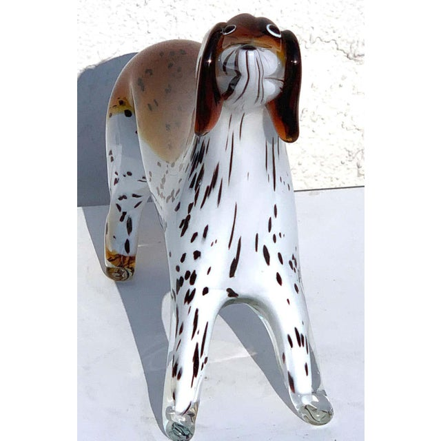 Murano Glass Figure of Spotted Dog For Sale - Image 9 of 12