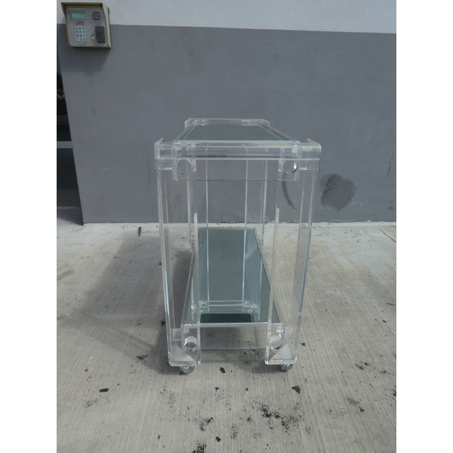 1970s High Quality Lucite Bar Cart For Sale - Image 5 of 8