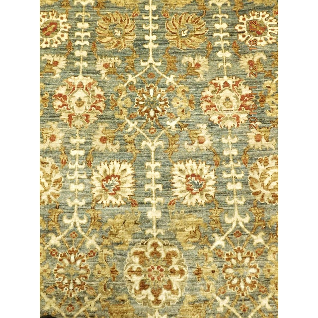 2010s Hand Knotted Green and Yellow Afghan Rug - 6'x 9' For Sale - Image 5 of 10