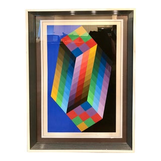 Op Art Victor Vasarely Screen Print For Sale