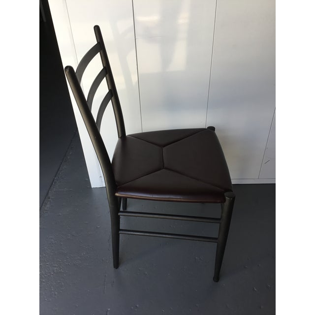 Mid-Century Italian Dining Side Chairs - Set of 4 For Sale - Image 10 of 11