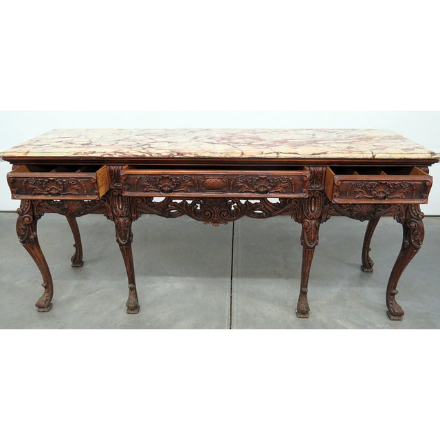 Georgian Style Marble Top Sideboard For Sale - Image 4 of 8
