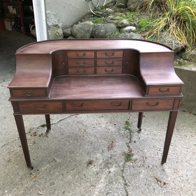 Lake Forest Estate Grand Rapids Furniture Carlton Adam Style Desk - Image 2 of 11