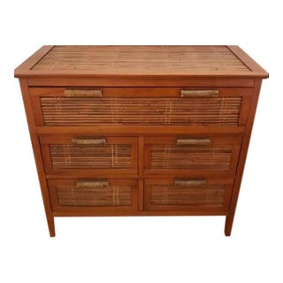 Vintage Rattan Chest of Drawers For Sale
