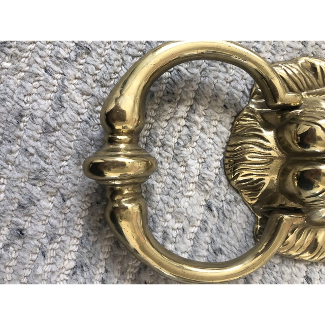 1950s 1950s English Traditional Lion Head Door Knocker For Sale - Image 5 of 7