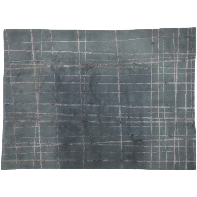 Vintage Tibetan Abstract Expressionism Rug - 7'10 X 10'9 For Sale
