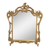 Image of Italian Floral Carved Gold Gilt Mirror For Sale