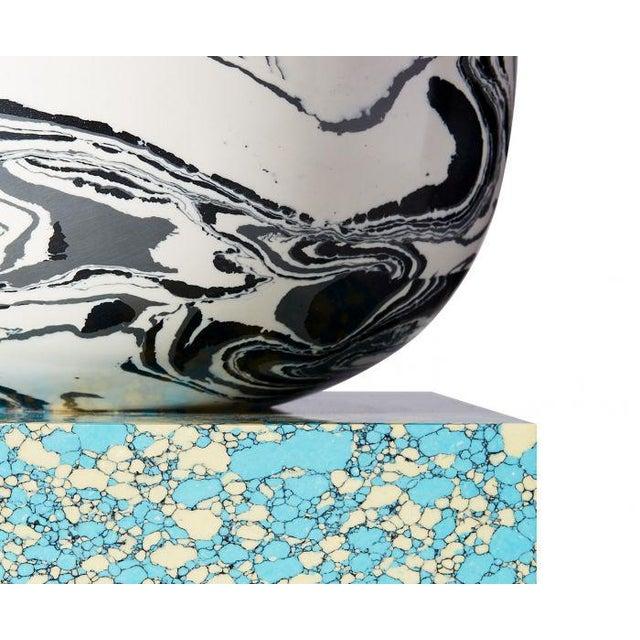 Tom Dixon Tom Dixon Swirl Vase on a Blue Base For Sale - Image 4 of 7