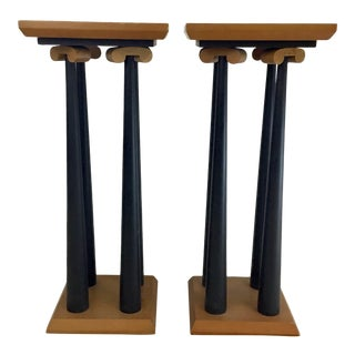 1980s Display Pedestal Stands by Thayer Coggin - a Pair For Sale
