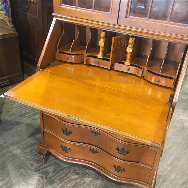 Antique Drop Front Ball Claw Secretary Desk For Image 7 Of 11