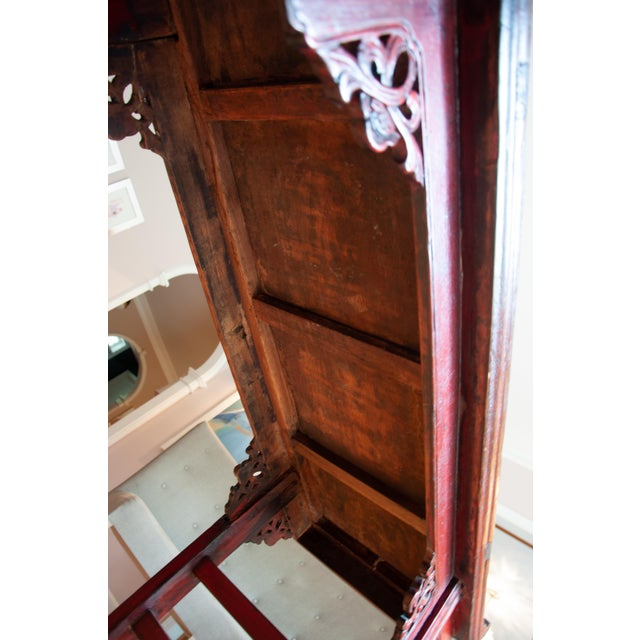 Red Chinese Red Altar Console Table For Sale - Image 8 of 13