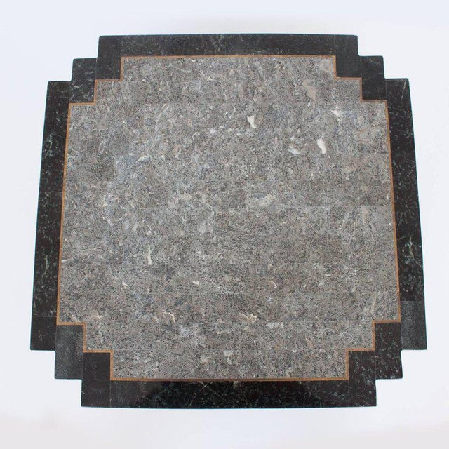 Maitland-Smith Tessellated Stone and Brass Side or End Table For Sale In Chicago - Image 6 of 9