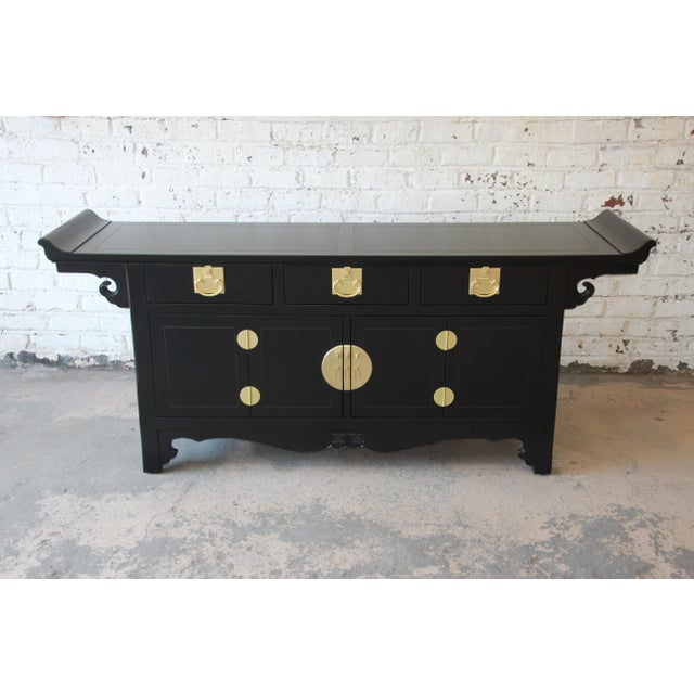 Asian Michael Taylor for Baker Far East Collection Chinoiserie Sideboard Credenza For Sale - Image 3 of 13