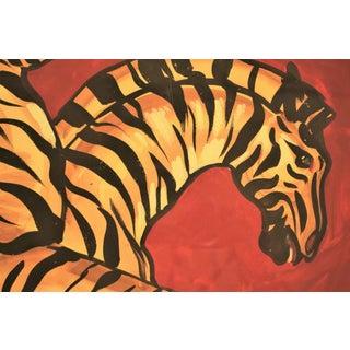 """""""Scalamandre Zebras"""" Original Watercolour & Gouache Painting Preview"""